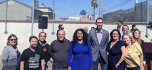 San Francisco Bay Area YIMBY Activists with Mayor Lodon Breed and State Senator Scott Weiner at the Announcement of Cars to Casas Legislation